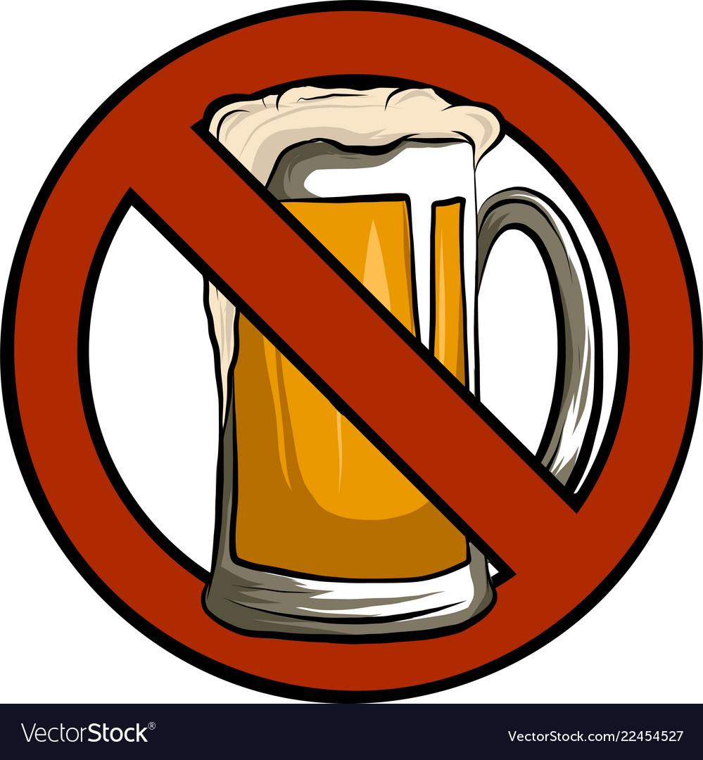 No beer sign isolated with