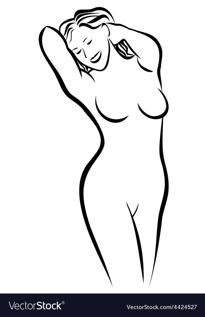 Curvy naked woman sketch — pic 14