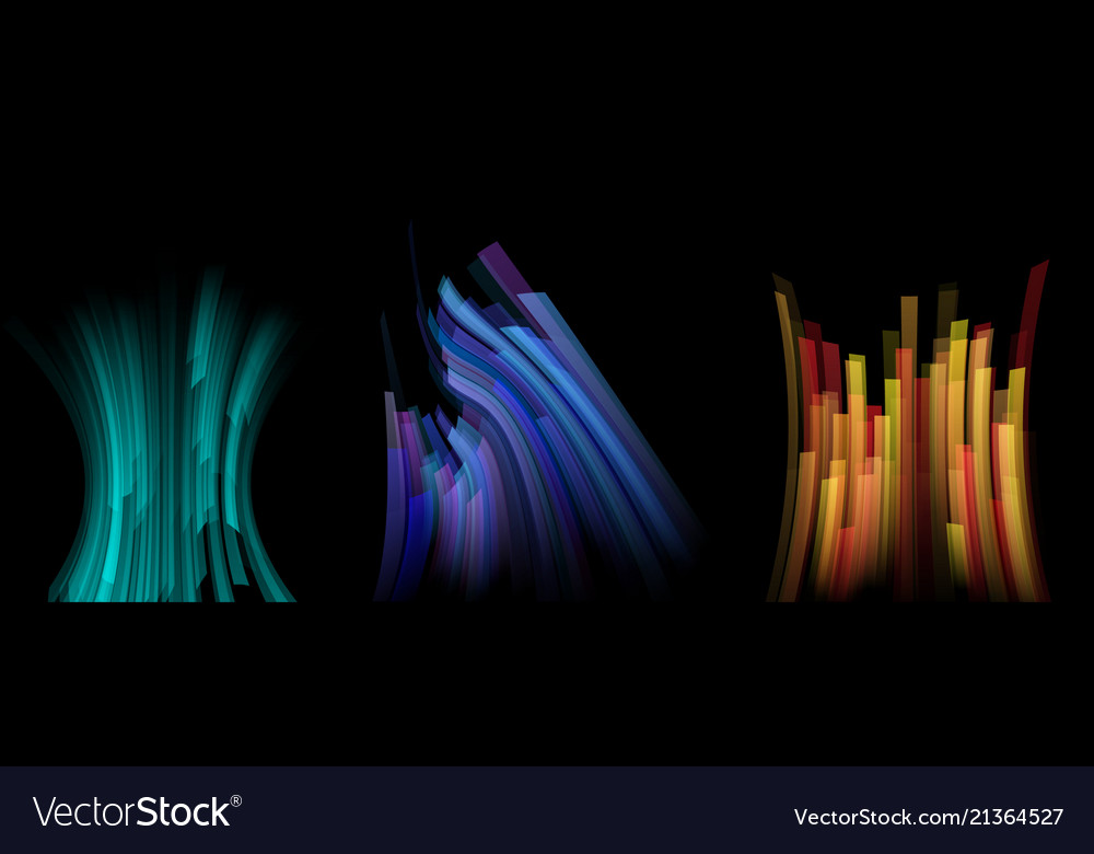 Set of bright lines motion backgrounds