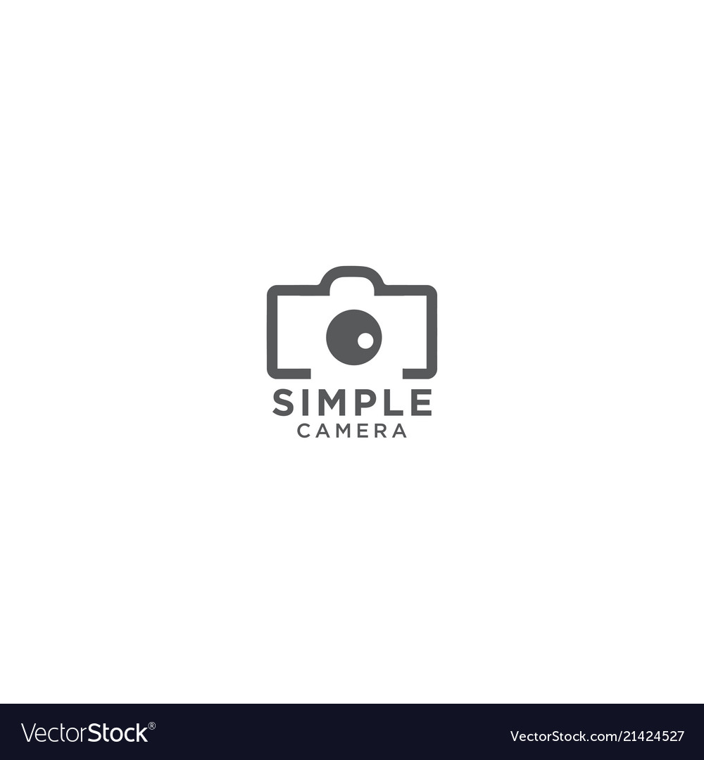 Simple Camera Photography Logo Design Template Vector Image