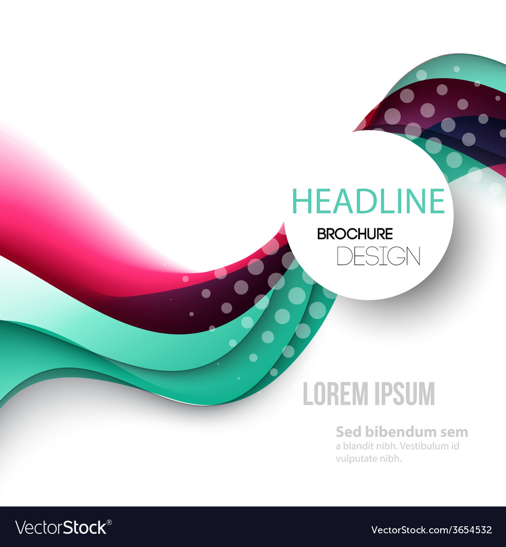 Abstract curved lines background Template brochure