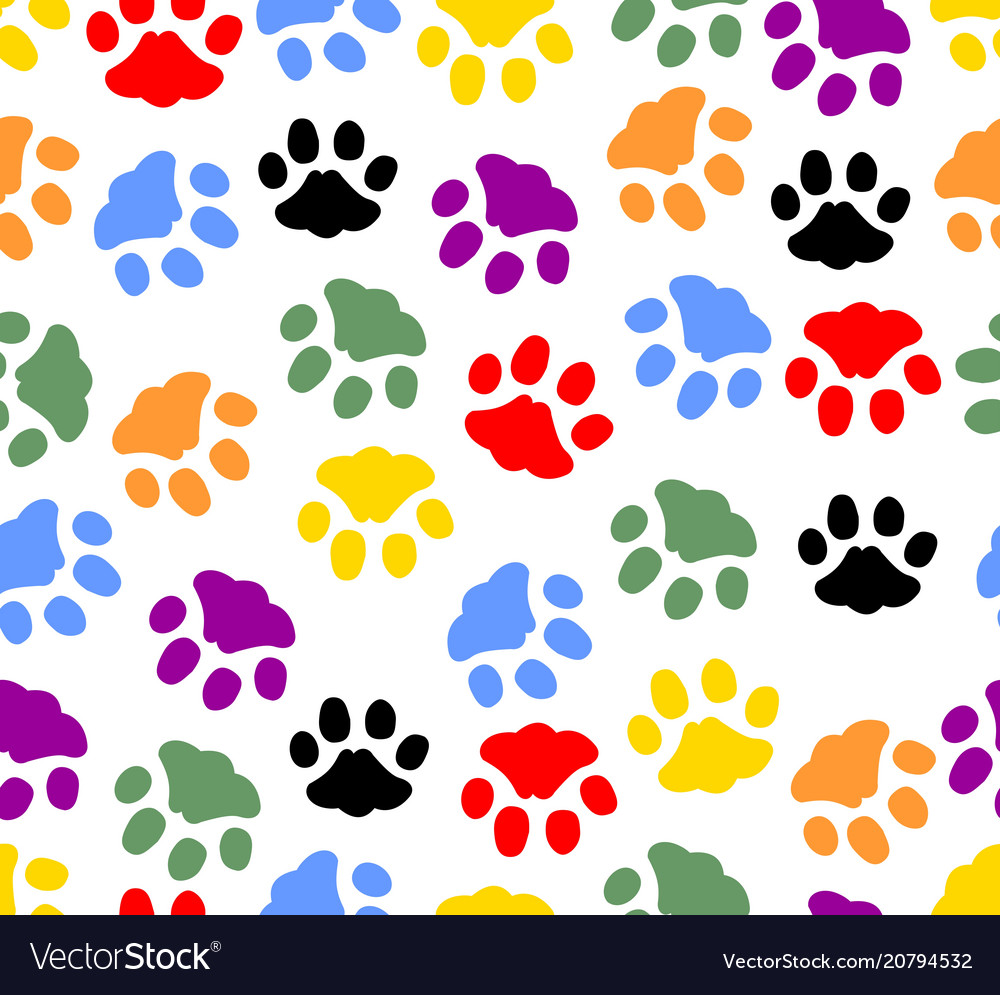 Beautiful background with colored prints of cat