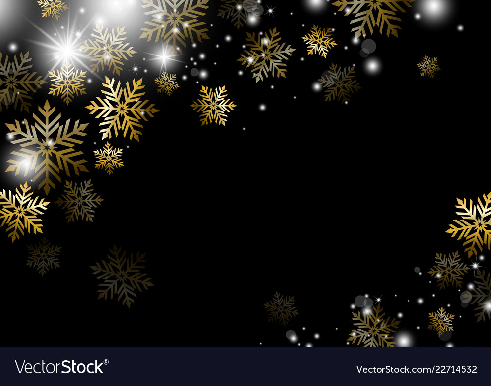 Christmas background design of gold snowflake