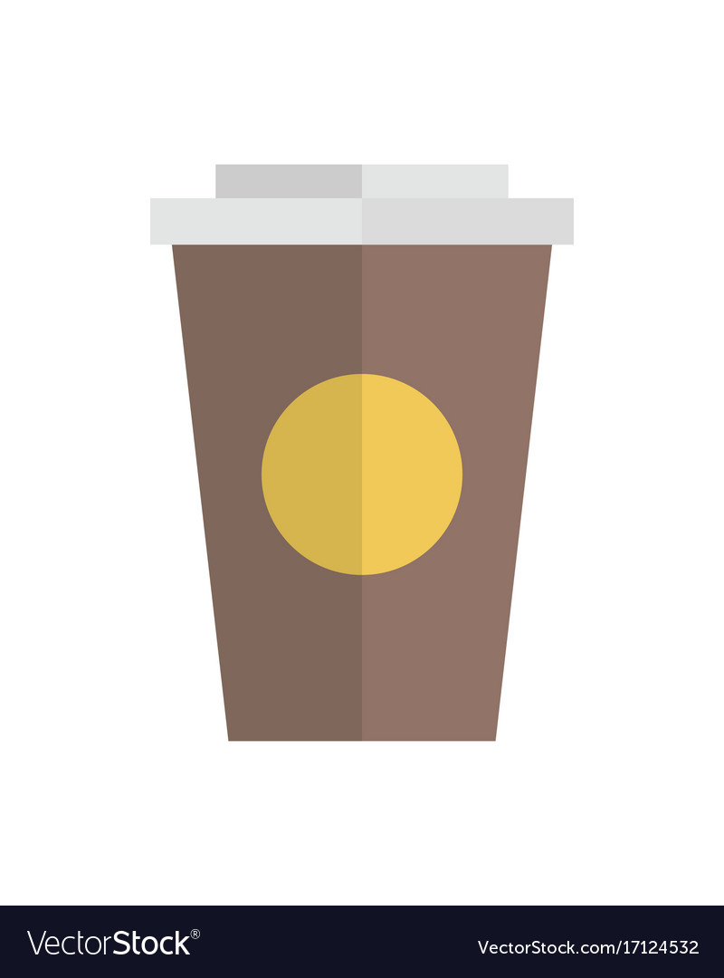 Cup container flat design
