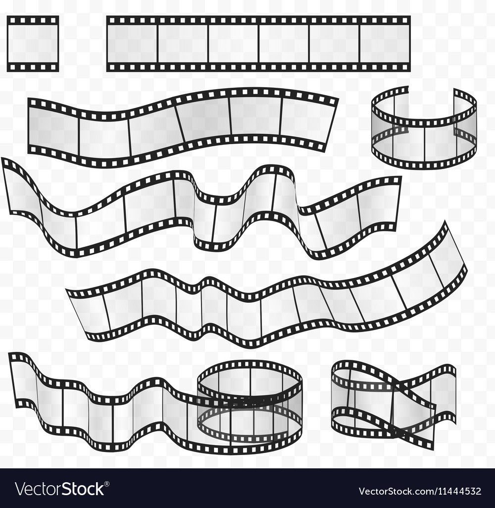 Media film strips roll set Negative and