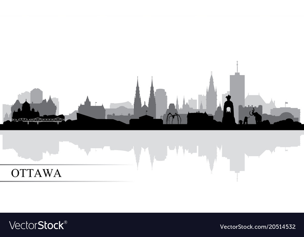 Ottawa city skyline silhouette background