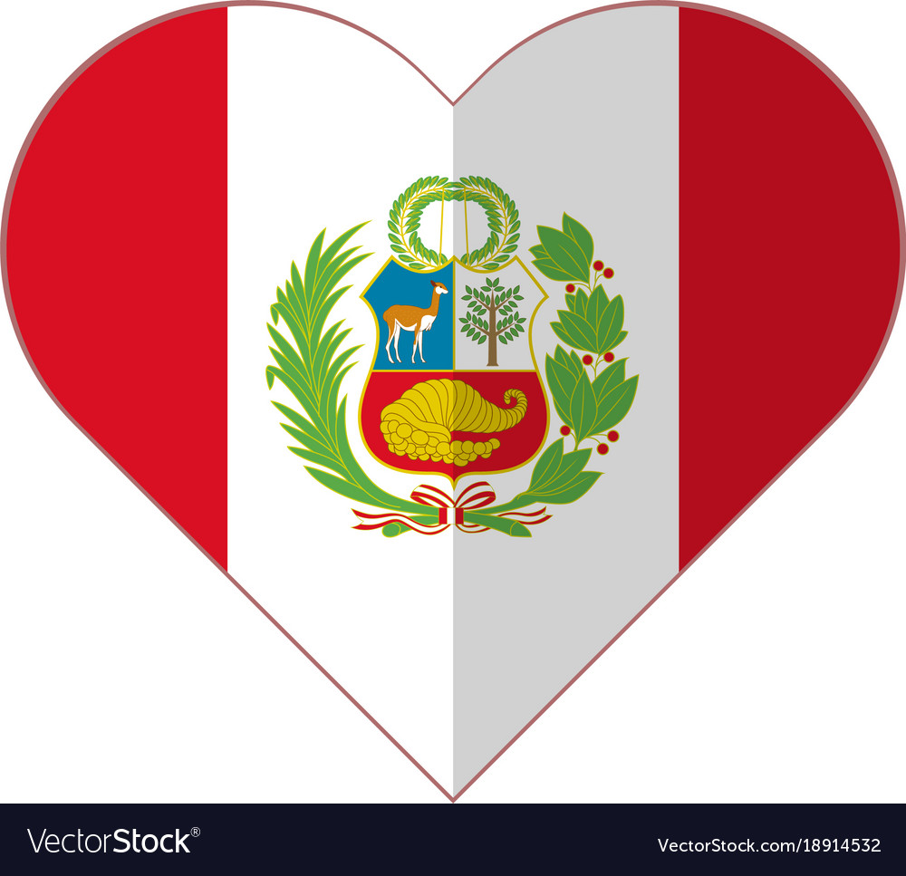 peru heart flag royalty free vector image vectorstock