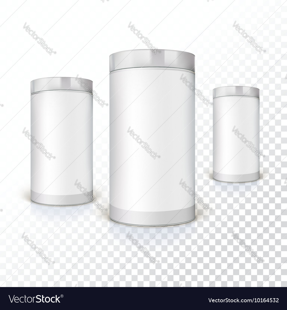 Set of round tins packaging vector image