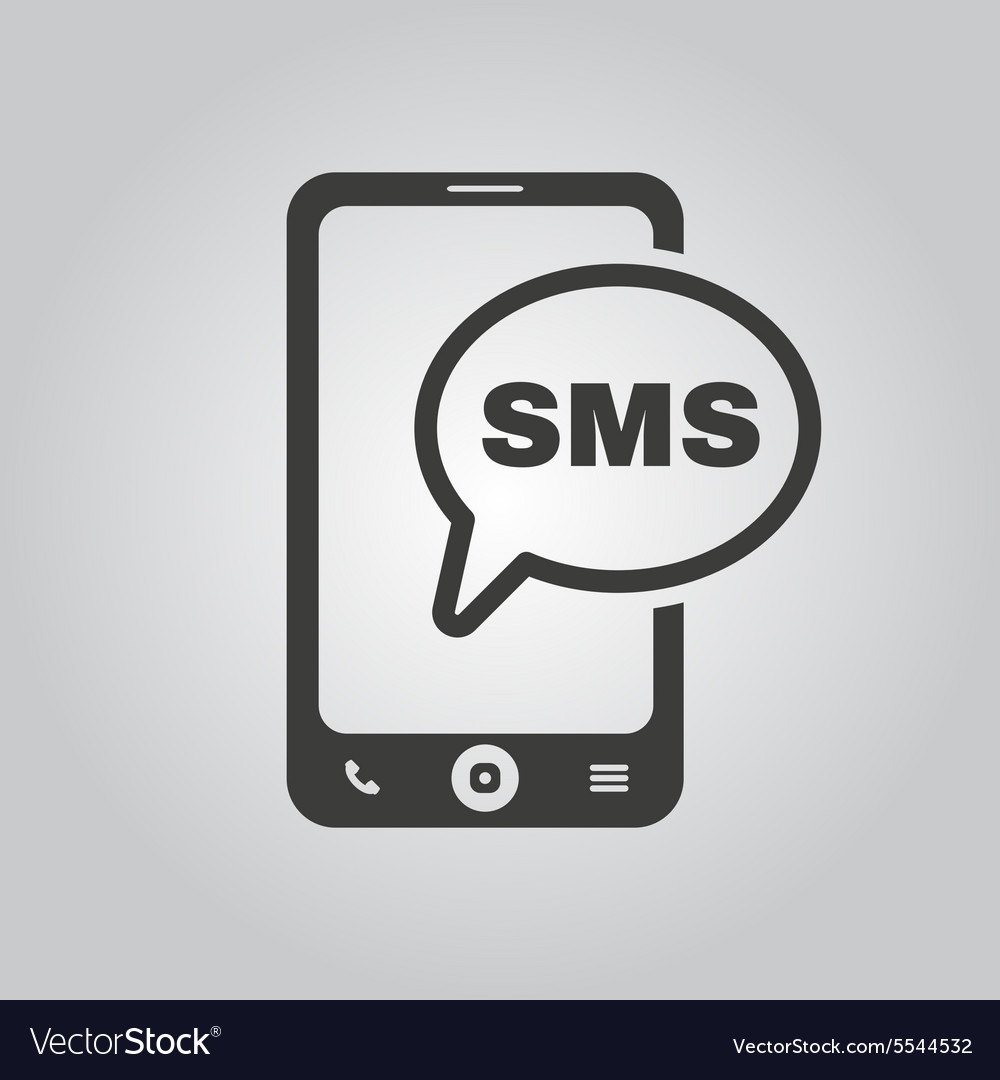 The sms icon Smartphone and telephone
