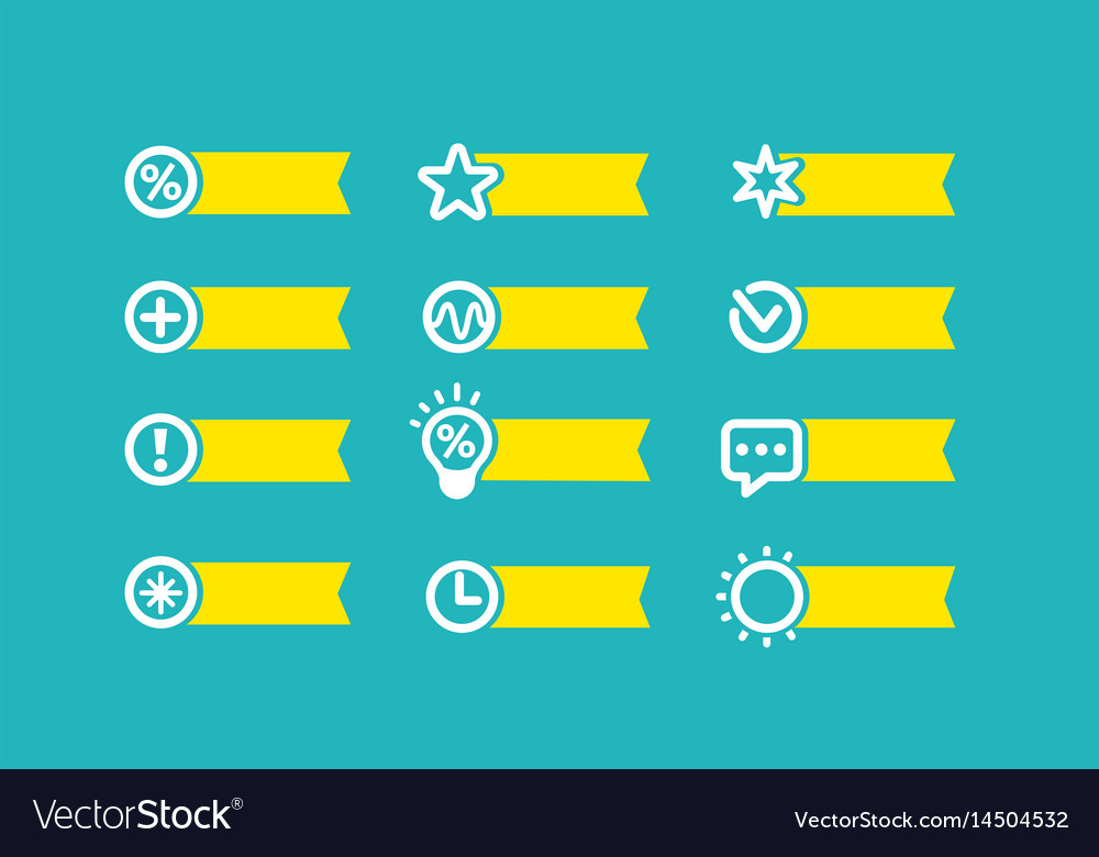 With yellow flag set of icons on a blue background