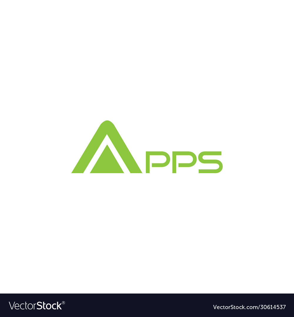 Apps text logo design