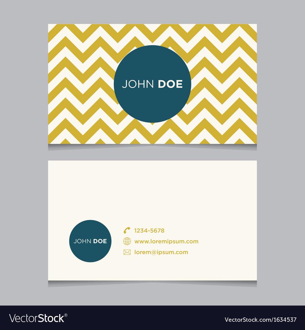 Business card pattern yellow 01