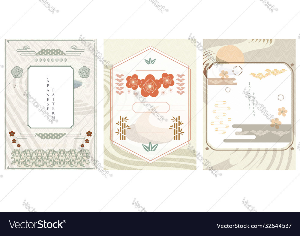 Japanese template zen garden background line
