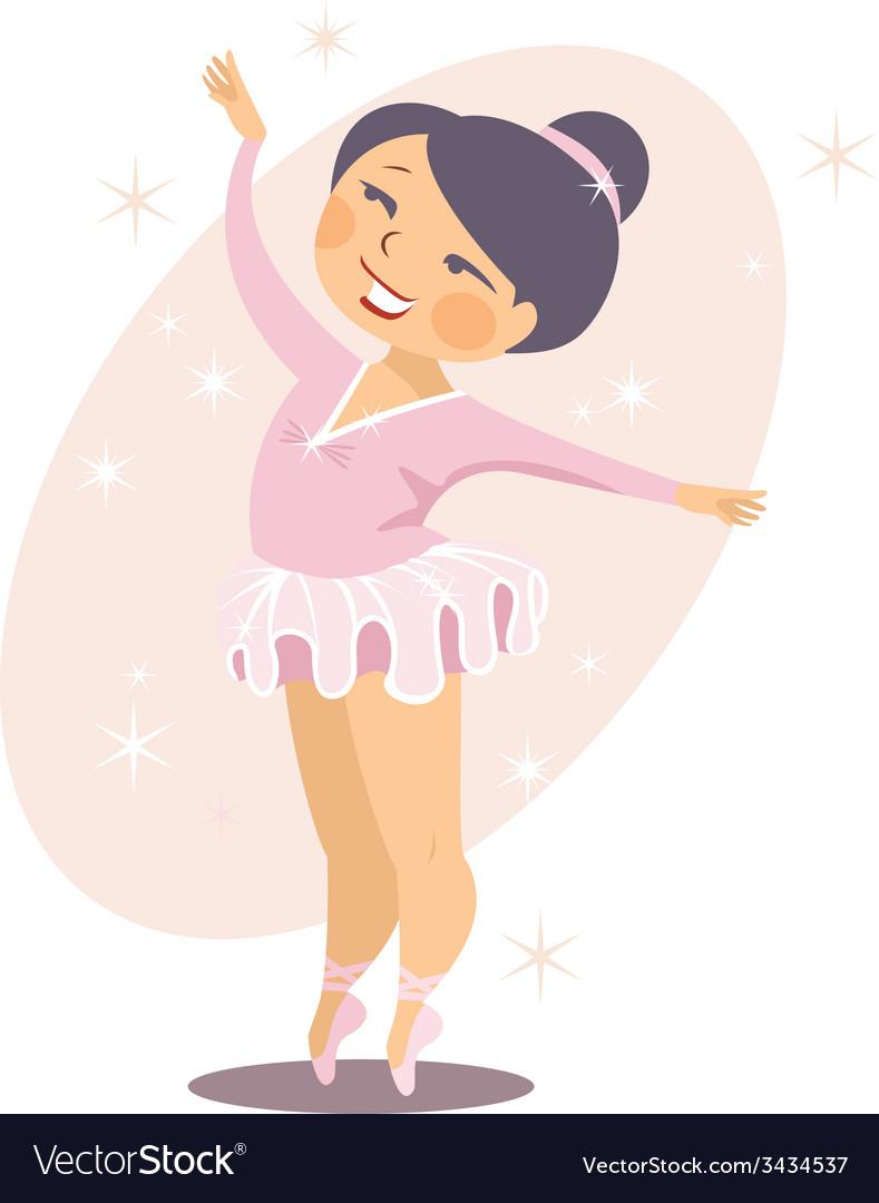 little ballerina royalty free vector image vectorstock rh vectorstock com ballerina vectors free ballerina vector icon