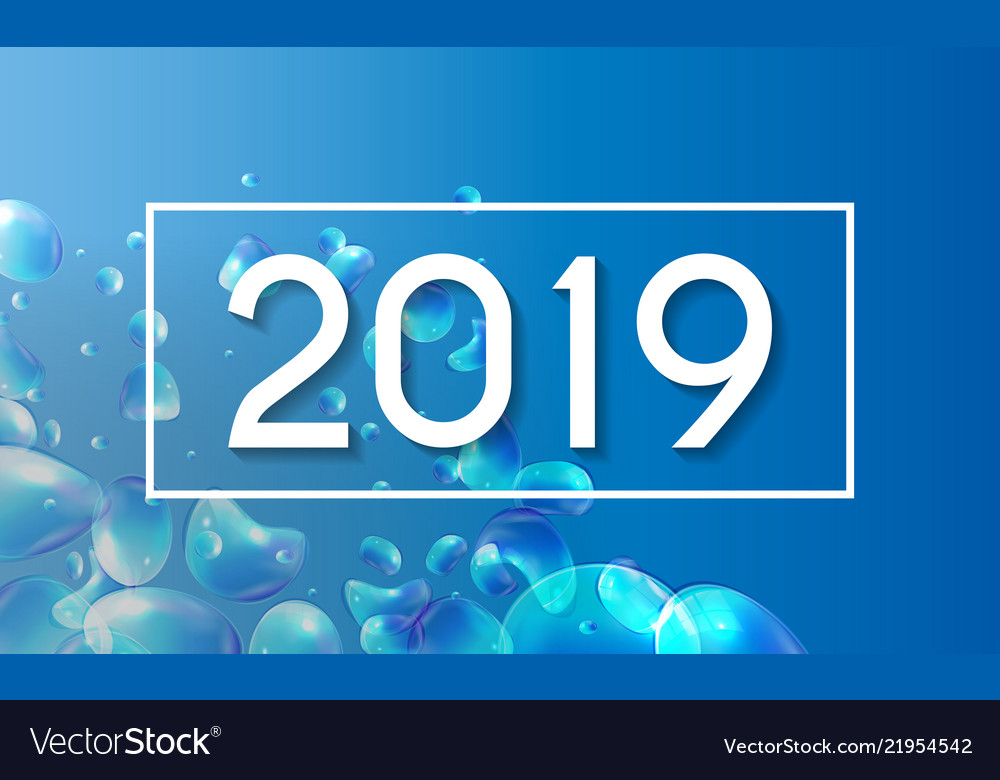 2019 abstract new year