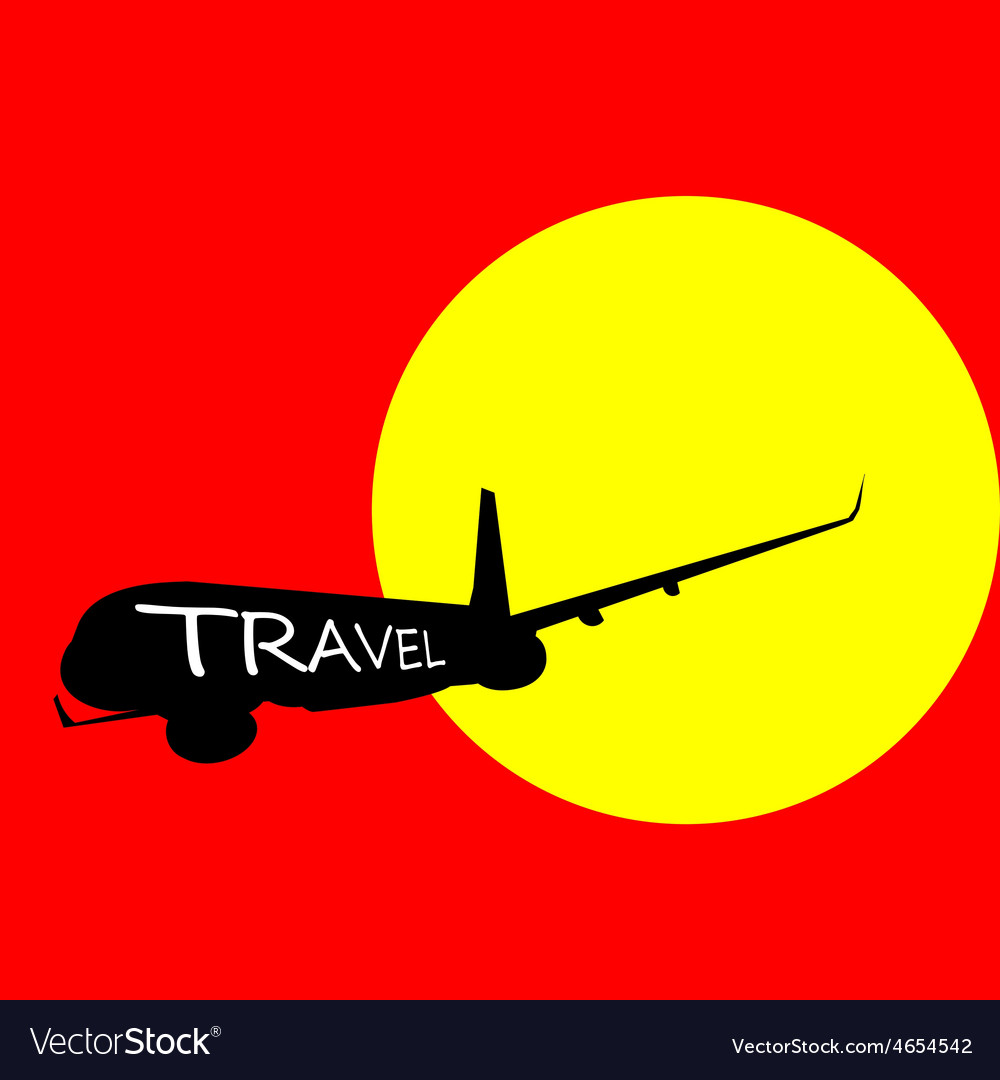 Airplane with travel color
