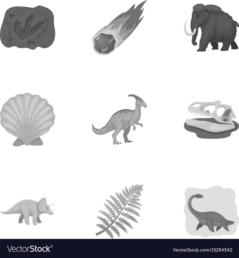 Image of: Prehistorical Icon Vectorstock Ancient Extinct Animals And Their Tracks And Vector Image