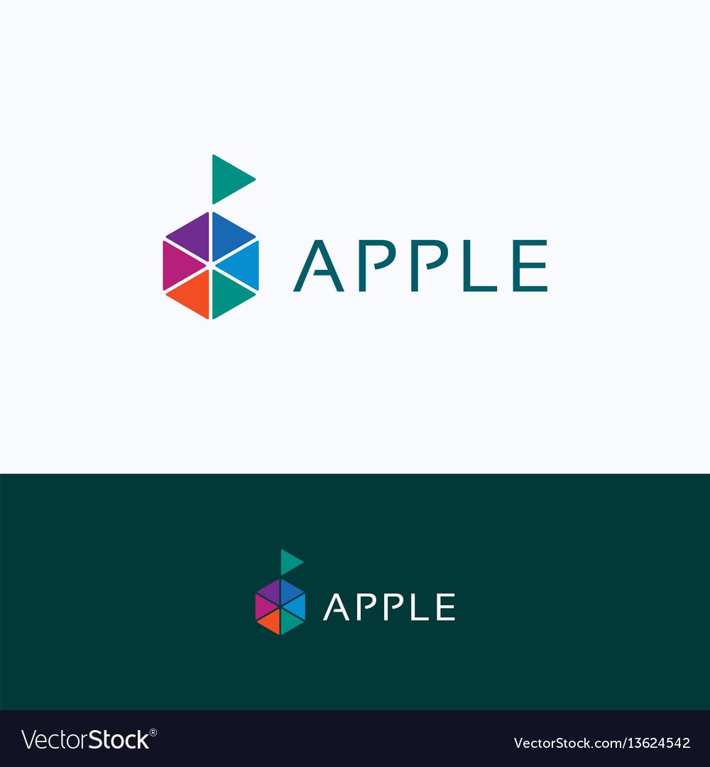 Apple hexagon company logo