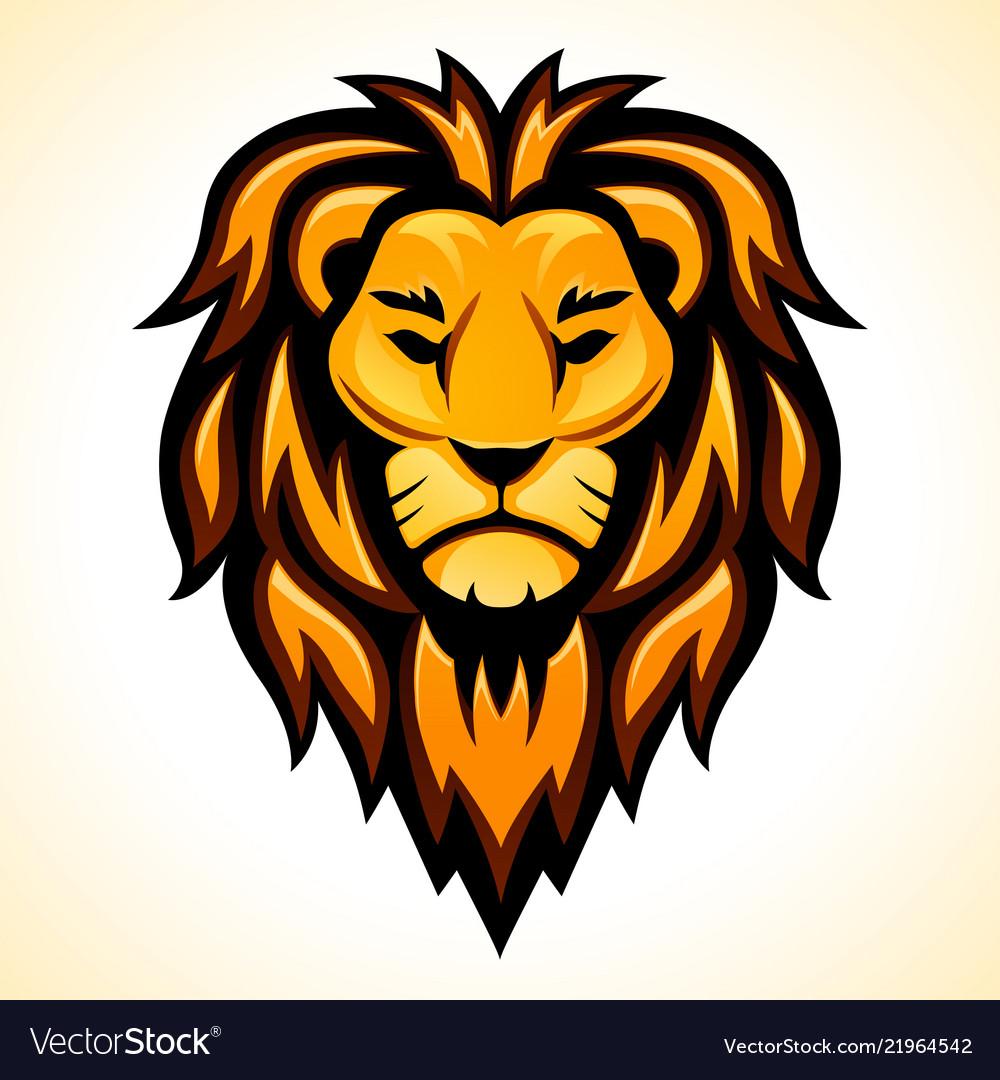 Lion head color design