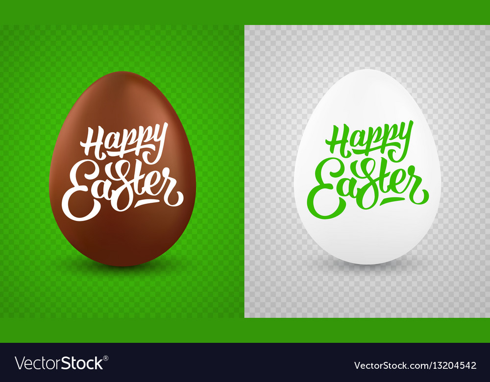 Set of realistic easter eggs