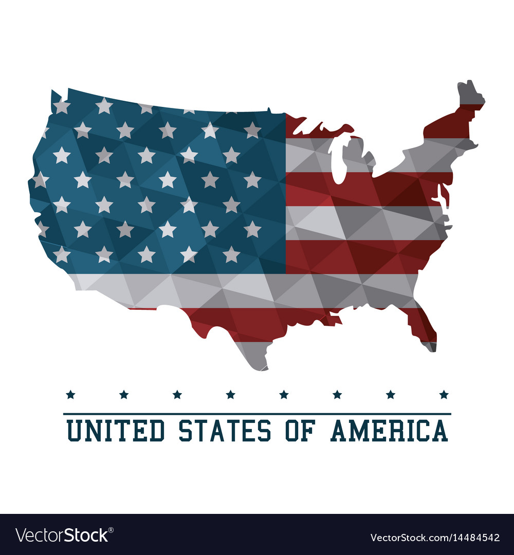 Usa flag map united states of america country
