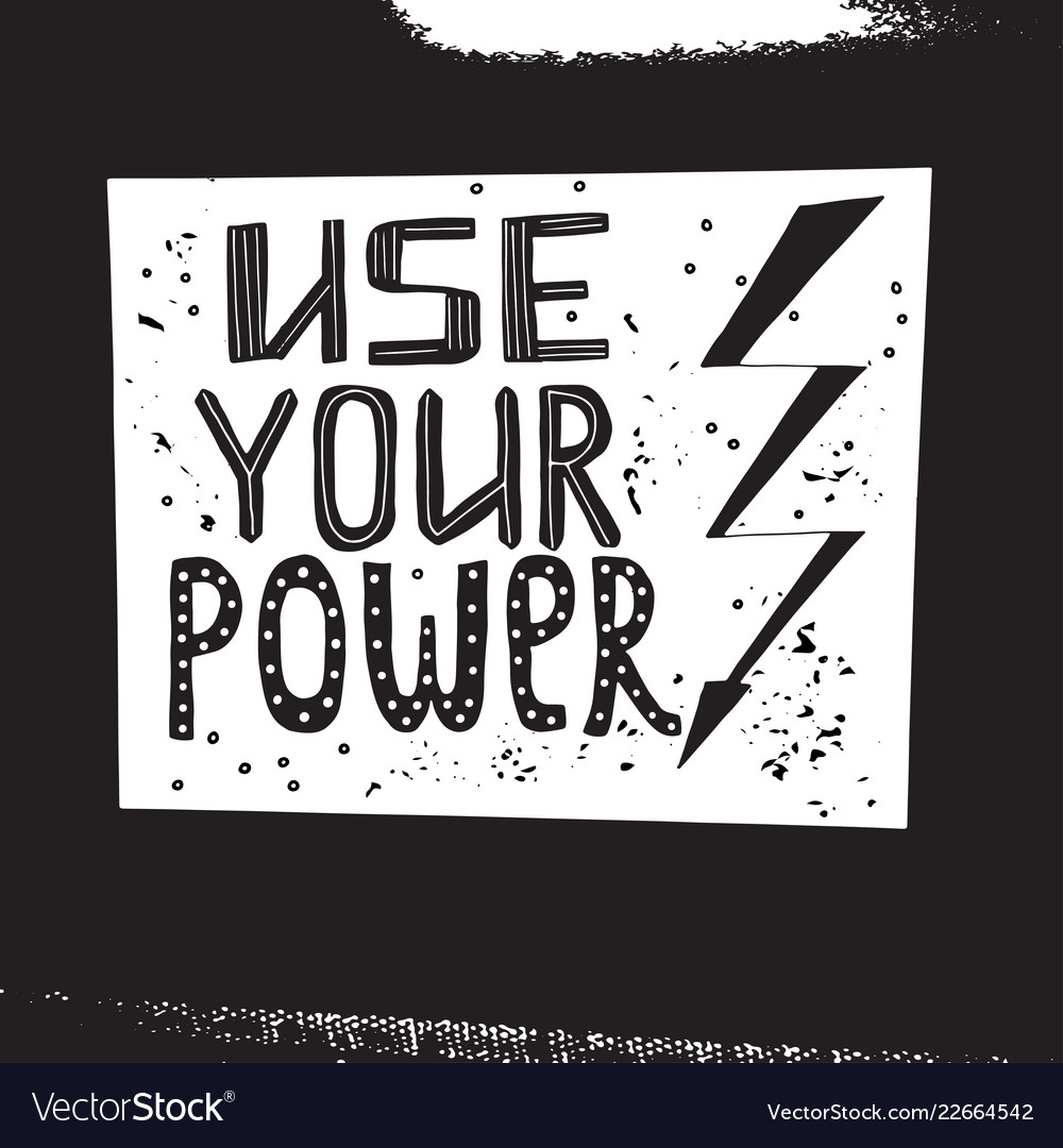 Use your power lettering