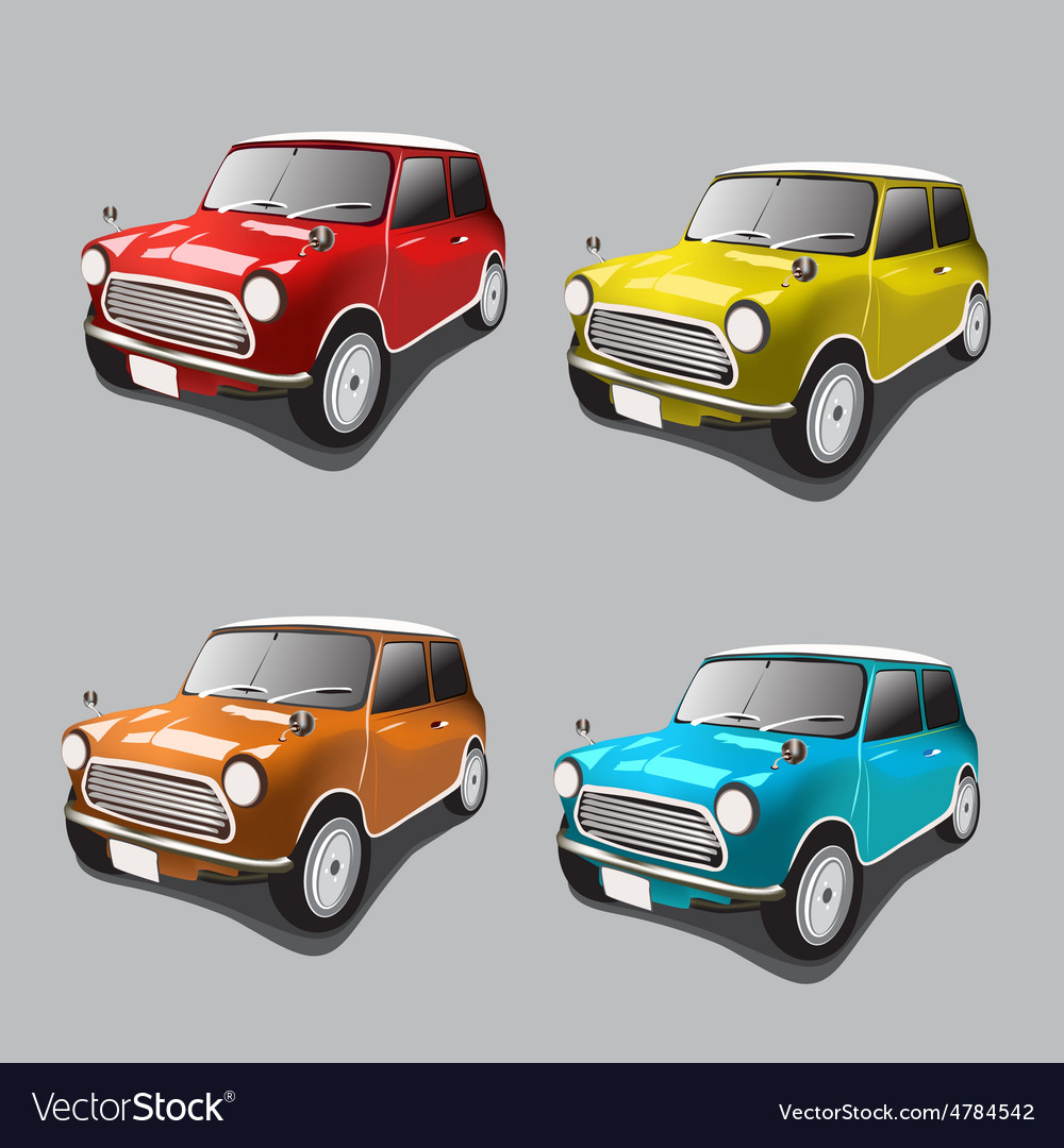 Vintage cars icons set Royalty Free Vector Image
