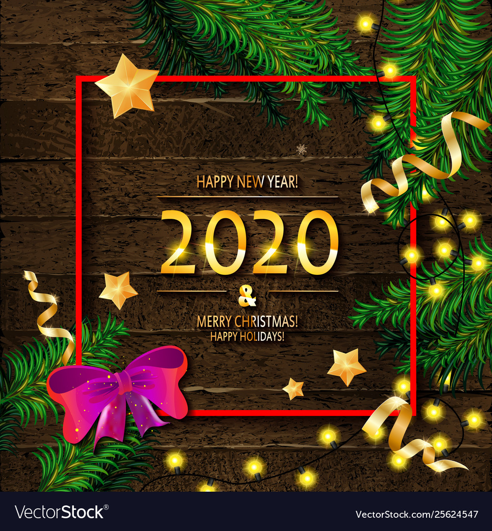 2020 Merry Christmas Images 2020 happy new year and merry christmas Royalty Free Vector