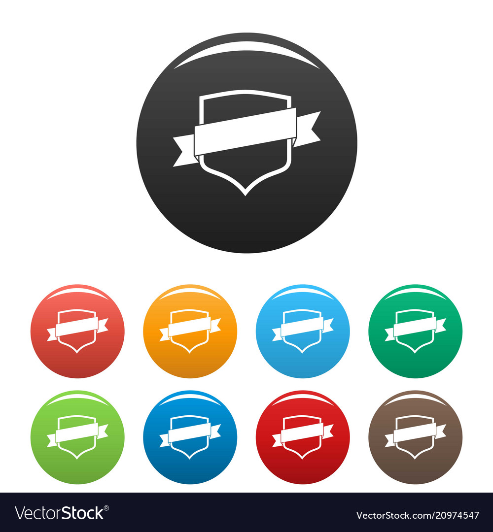 Badge icons set color