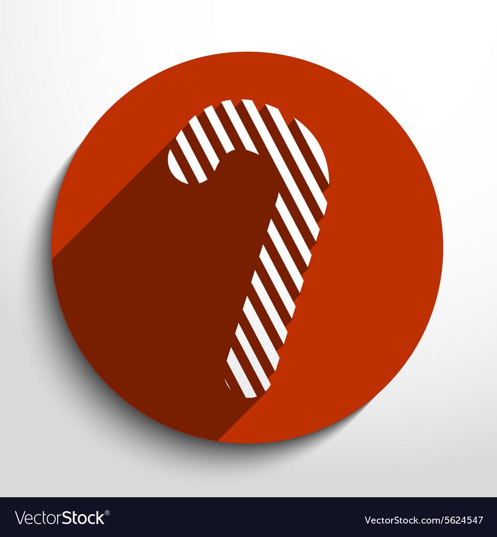 Candy cane web flat icon