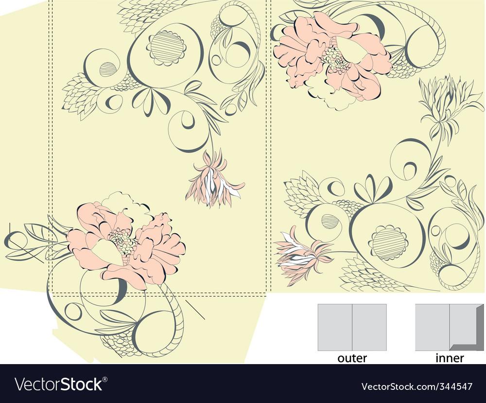 Decorative template for folder design vector image