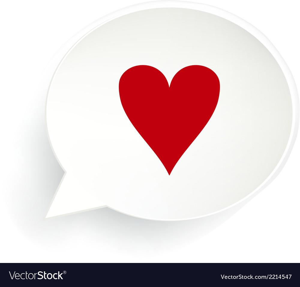 Hearts Speech Bubble