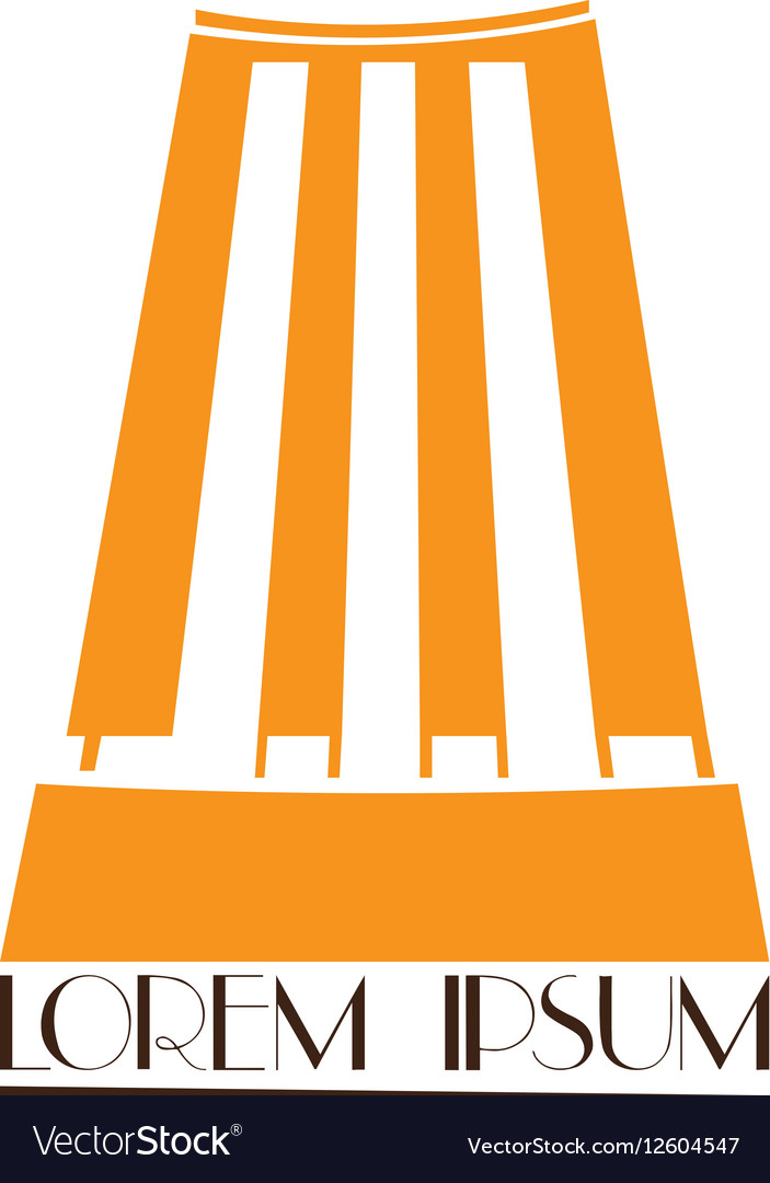 Isolated building logo