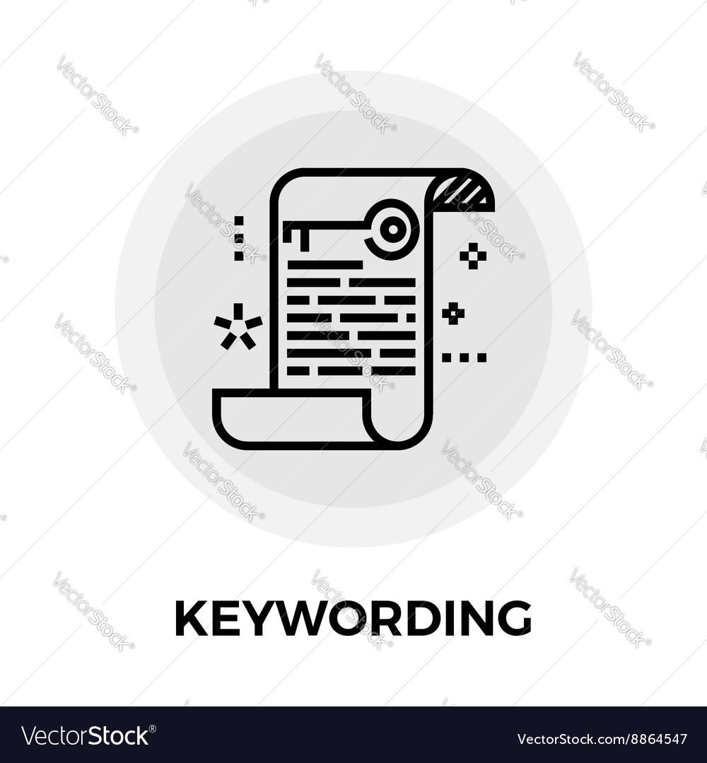 Keywording Line Icon