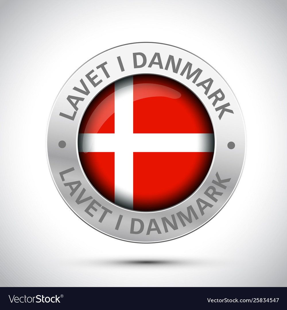 Made in denmark flag metal icon