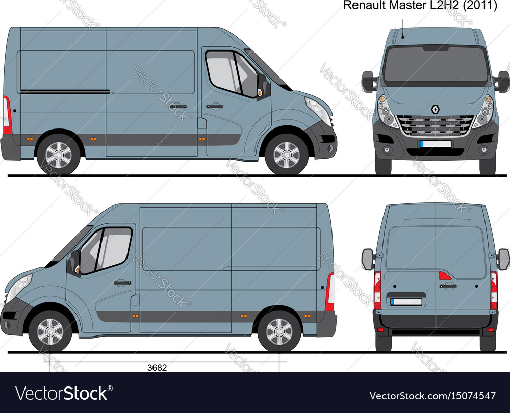 renault master l2h2 cargo bus 2011 royalty free vector image. Black Bedroom Furniture Sets. Home Design Ideas