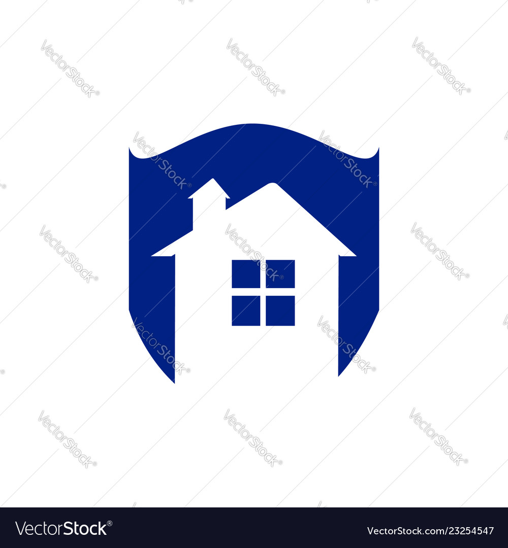 Save home logo - house with window and chimney on