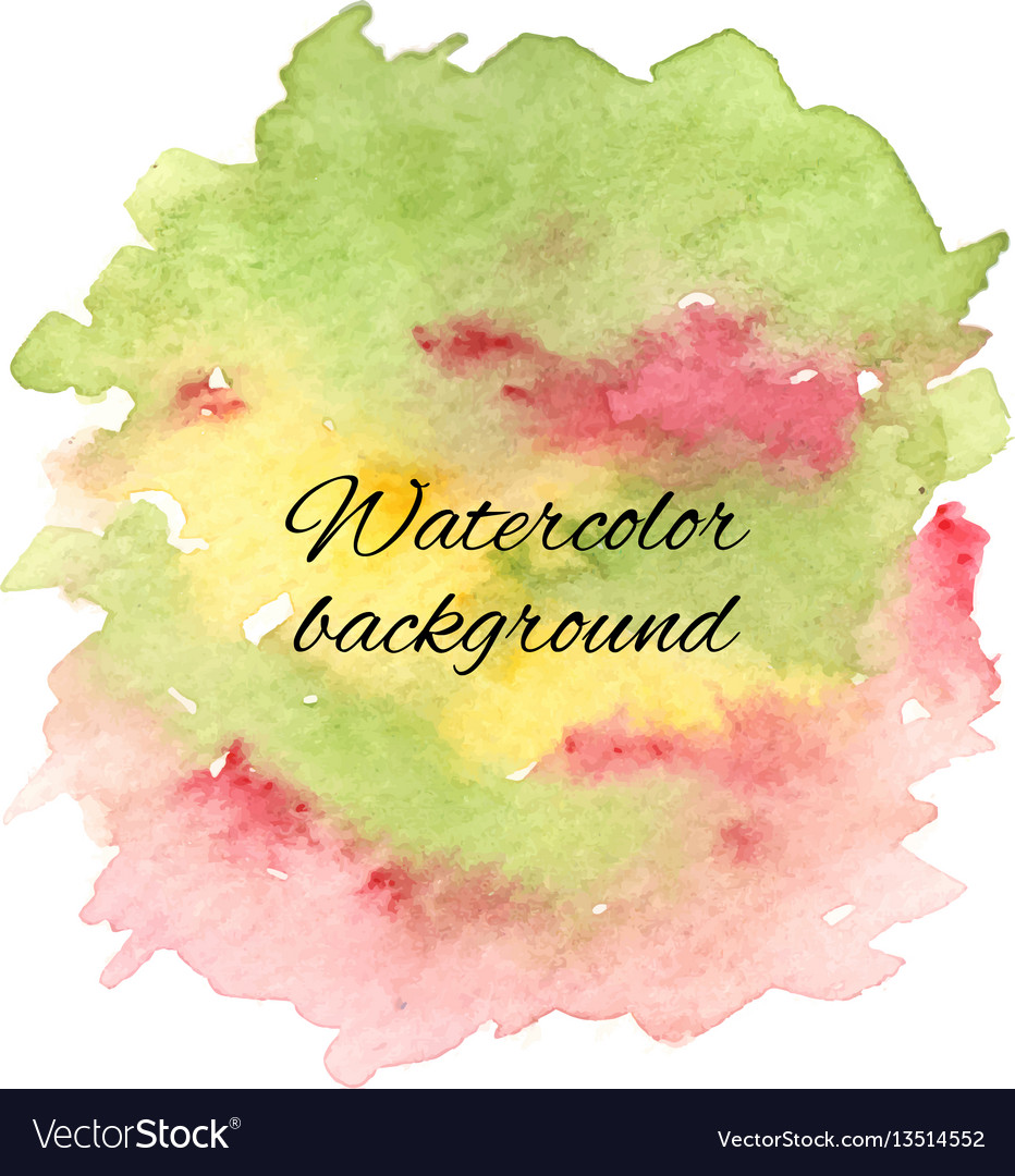Abstract handdrawn colorful watercolor background
