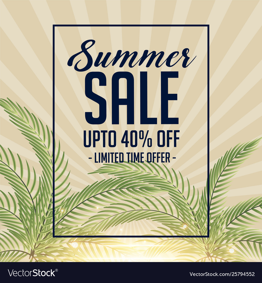Awesome summer sale background design
