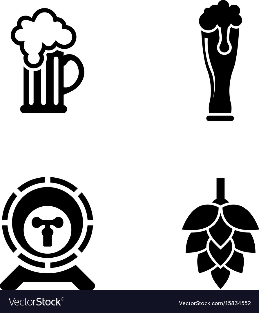 Beer simple related icons