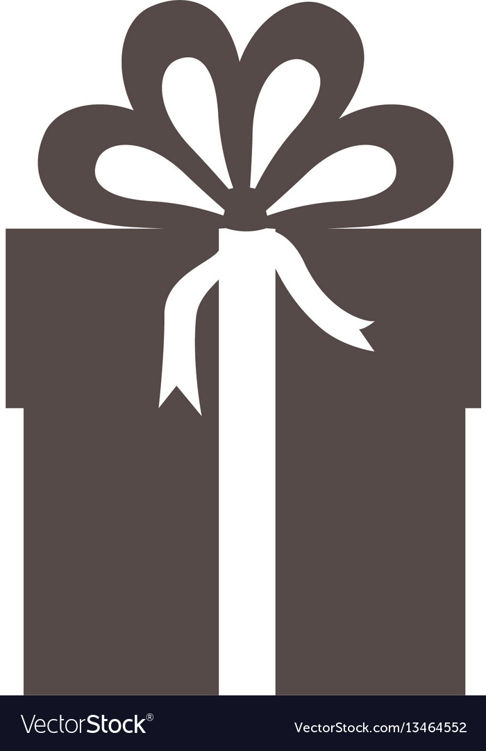 Gray box with bow ribbon icon