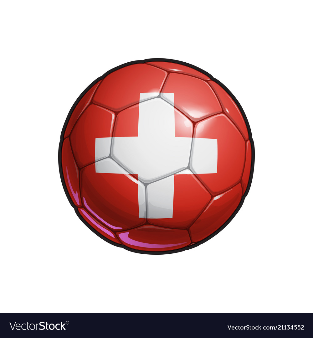 Swiss flag football - soccer ball