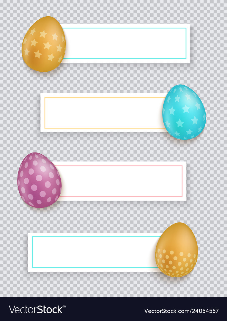 Easter banners set easter banners
