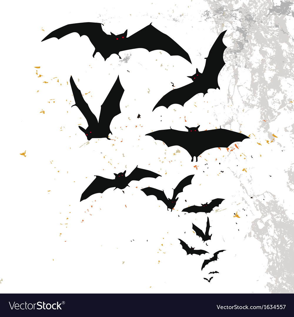 halloween background with flying bats royalty free vector