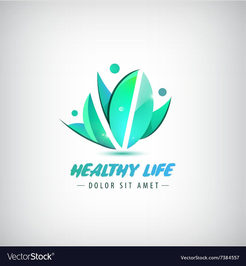 Healthy life logo man human organic logo