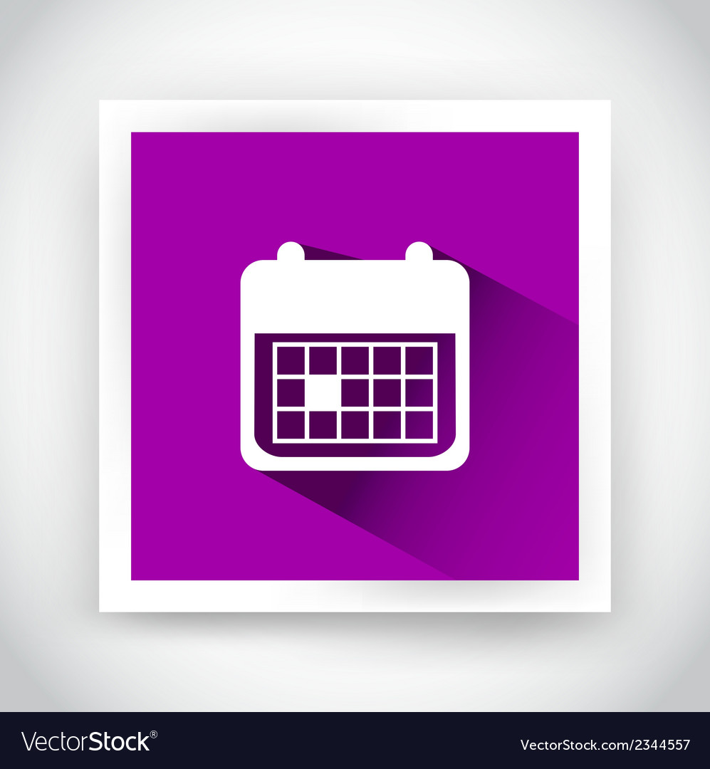 Icon of calendar for web and mobile applications
