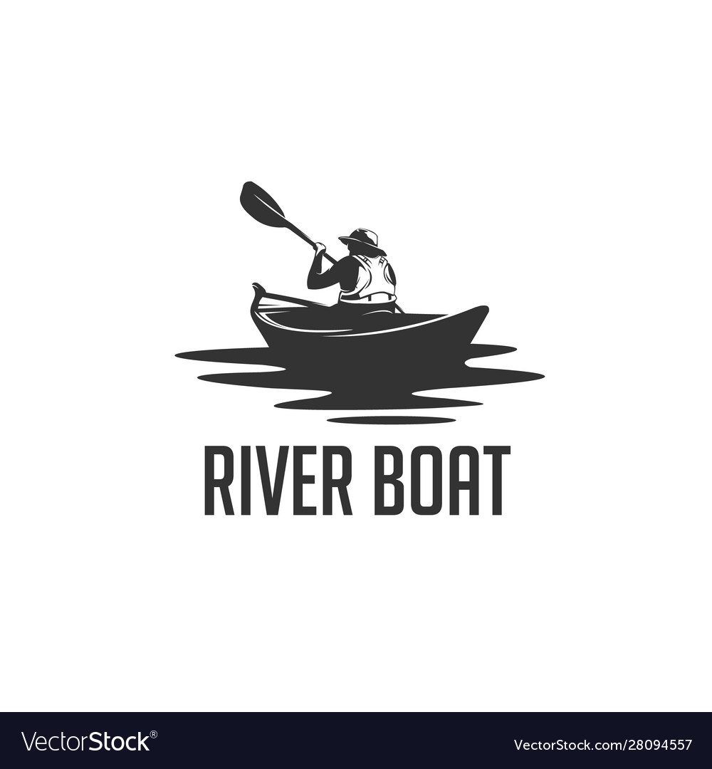 River boat vector