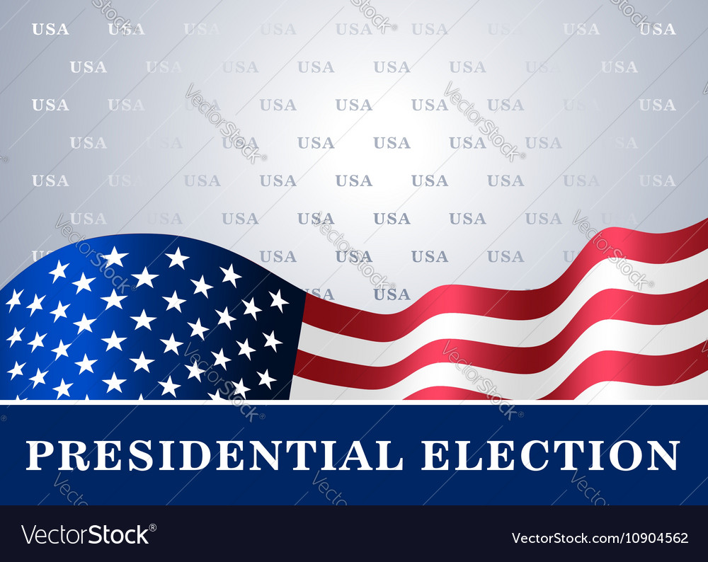 American flag background Presidential Election