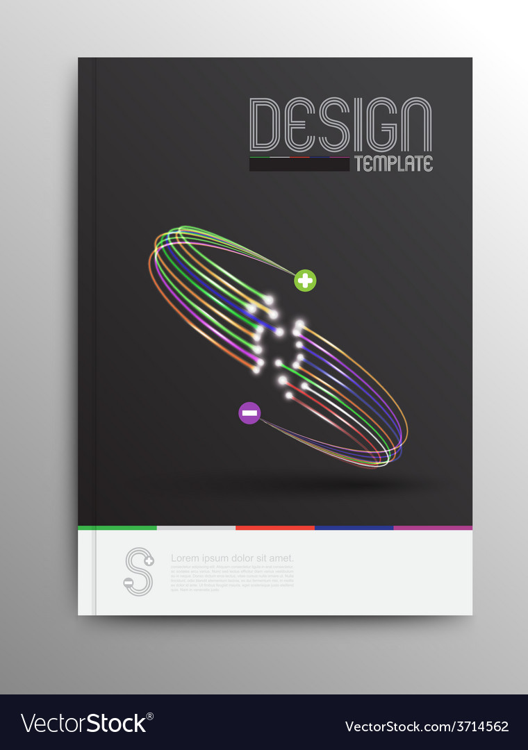 Brochure Design Template Business Abstract