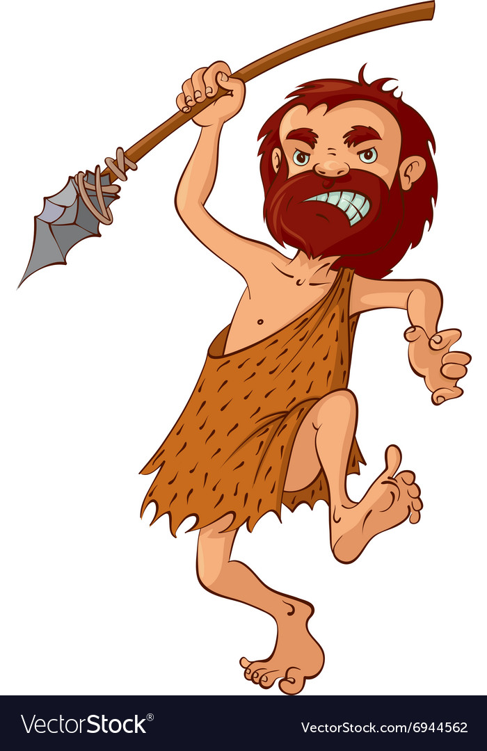 Caveman with spear